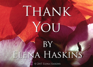 Thank You by Elena Haskins